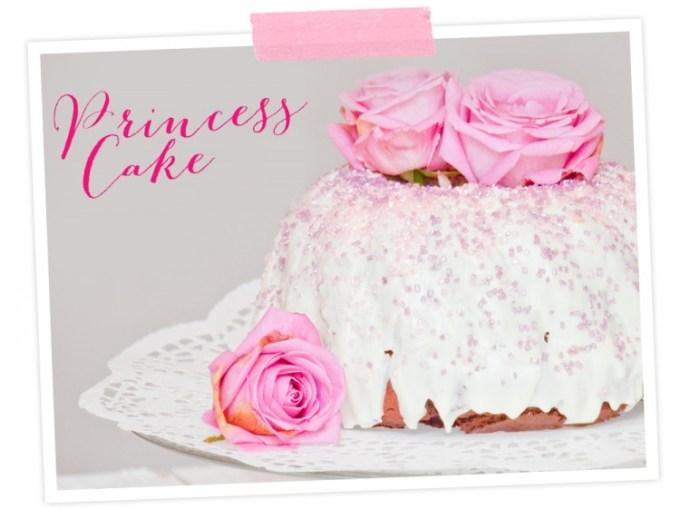 Mit weisser Glasur und etwas Kuchenglitzer wird der Marmorkuchen zum Schmuckstück!