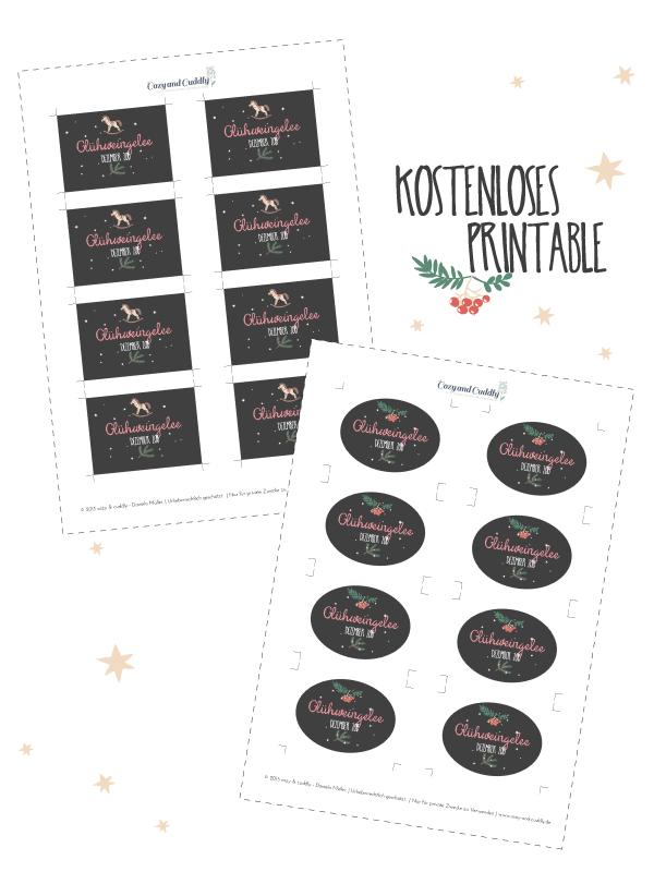Etikett (Printable) für Glühweingelee