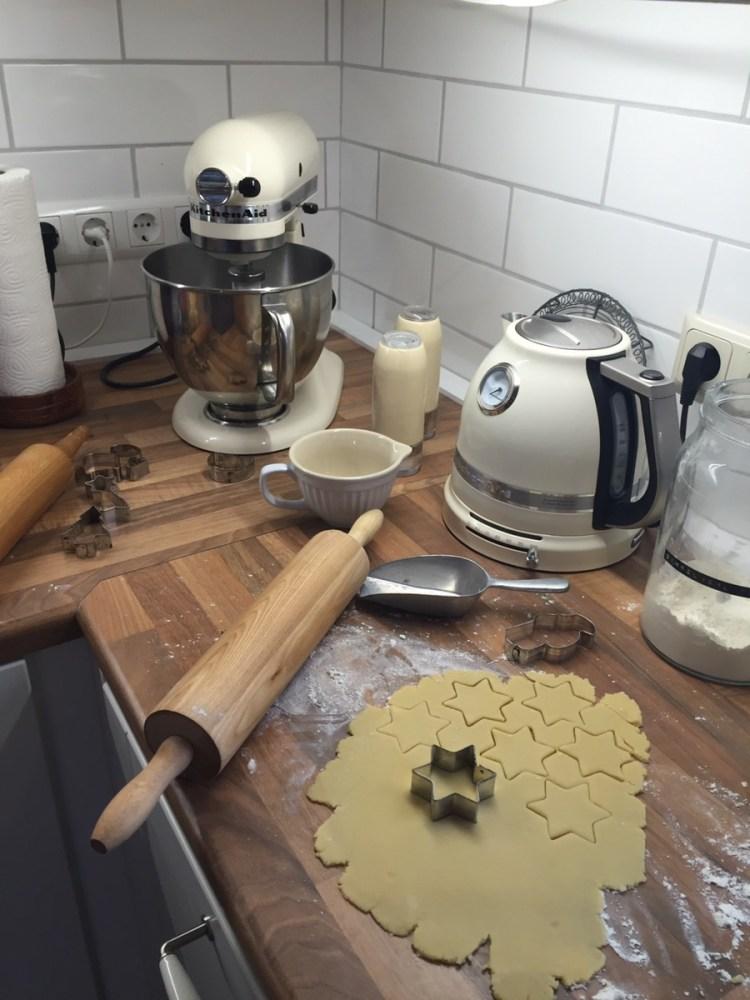 Dann habe ich gebacken... Nachmittags kam Besuch
