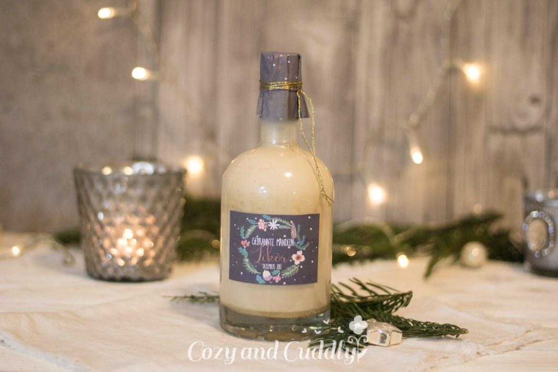 Advent: Gebrannte-Mandeln-Likör mit Printable - cozy and cuddly Adventskalender
