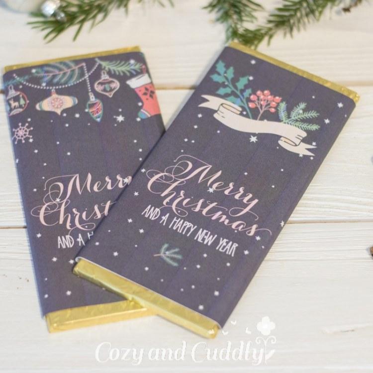 Advent: Last-Minute Printable für Schokolade als Weihnachtsgruß - Christmas Greetings Chocolate - cozy and cuddly Adventskalender