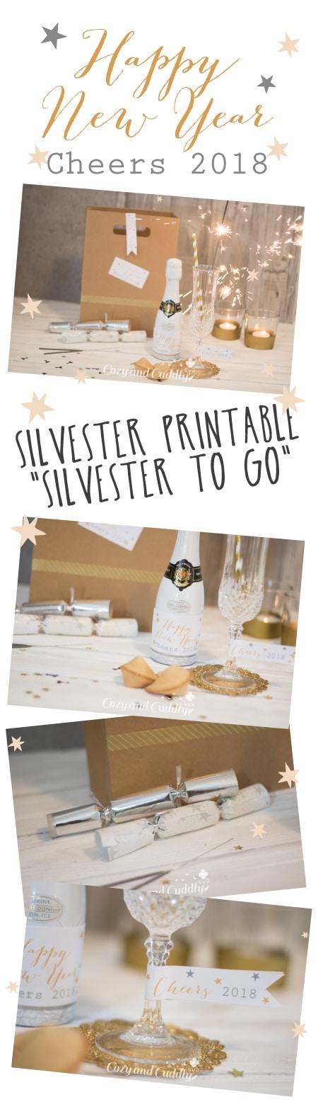 """""""Silvester To Go"""" oder als Tischdekoration - Printable für Eilige"""
