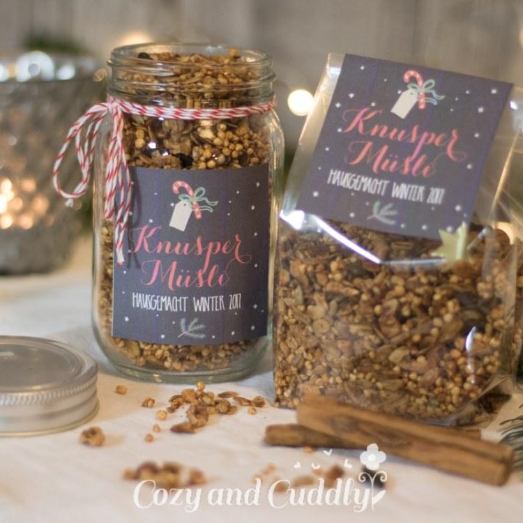 Advent: Rezept für selbstgemachtes Weihnachts-Granola (Knuspermüsli) - Superfood - cozy and cuddly Adventskalender