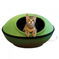 Modern Pod Shaped Heated Cat Bed