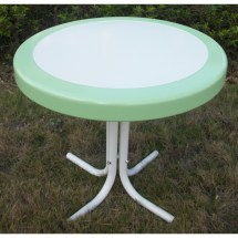 4d Concepts Metal Retro Table - Lime And White