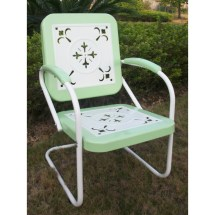 4d Concepts Metal Chair Retro - Lime And White