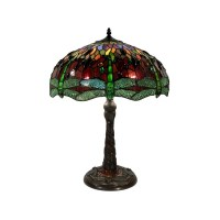 Tiffany Style Dragonfly Table Lamp with Mozaic Base SS308B ...