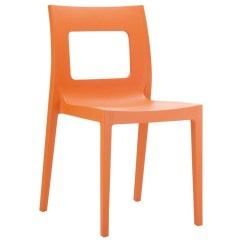 Heavy Duty Resin Patio Chairs Best Studio Chair Lucca Outdoor Dining Orange Isp026 | Cozydays