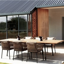 Bitta Braided Modern Outdoor Dining Set 7 Piece