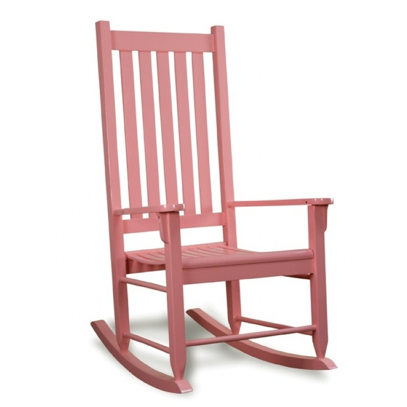 Traditional Wood Rocking Chair Pink