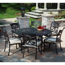 Round Cast Aluminum Patio Dining Sets