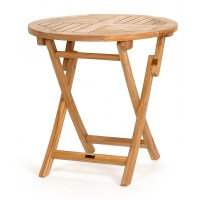 Modern Teak Round Folding Bistro Table 30 inch CA-50171 ...