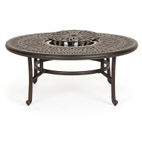 Florence Cast Aluminum Outdoor Coffee Table 52 inch Round ...