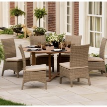 Round 7 Piece Outdoor Dining Set