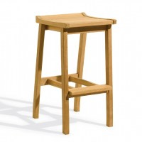 Shorea Wood Dartmoor Outdoor Bar Stool Natural