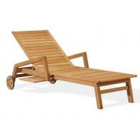 Shorea Wood Siena Outdoor Chaise Lounge OG-SCL70 | CozyDays