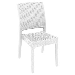 Adirondack Chair Reviews Reclining Outdoor Florida Wickerlook Resin Patio Dining White Isp816-wh | Cozydays