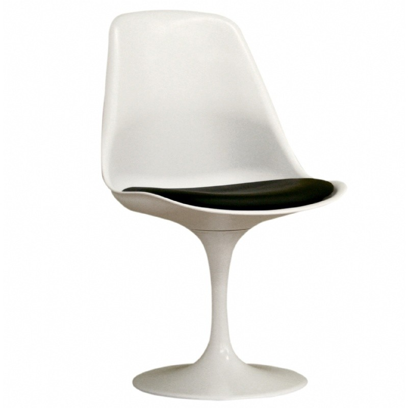 Ergonomic Modern Plastic Side Chair White