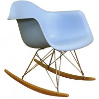 Rocking Blue Plastic Resin Accent Chair