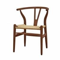 Wishbone Dark Wood Accent Dining Chair