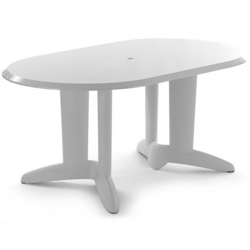 ascot lacquered resin oval table