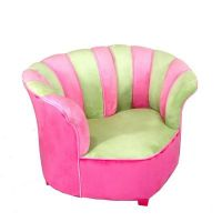 Sweetheart Chair Minky Green - Hot Pink 38039   CozyDays