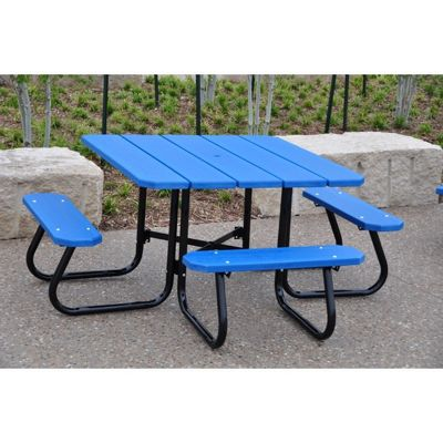 adirondack chairs recycled materials lumbar support office chair square plastic picnic bench and table 4 feet-ada ff-pb4-sqpicada | cozydays