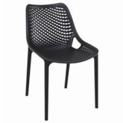 Outdoor Restaurant Chairs Low Back Dining Chair Stackable Folding Cozydays Air Black Isp014
