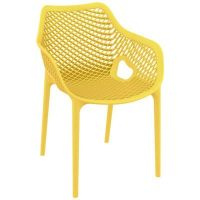 Air XL Outdoor Dining Arm Chair Yellow ISP007-YEL | CozyDays