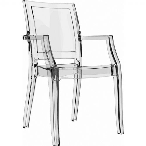transparent polycarbonate chairs upholstered with wooden arms arthur arm chair clear isp053 tcl cozydays