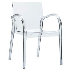Plastic See Through Chair Lumbar Support Office Cushion Dejavu Clear Outdoor Arm Isp032 Tcl Cozydays