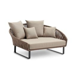 Aluminum Bistro Chairs Brown Leather Lounge Chair Bitta Braided Modern Outdoor Daybed Chaise Gk-70800-729 | Cozydays
