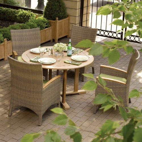 torbay outdoor wicker round patio dining set 5 piece