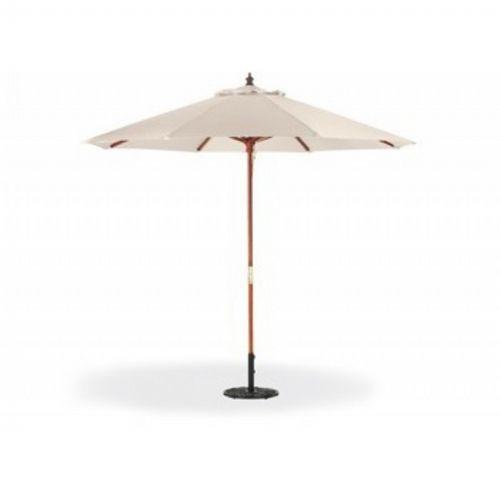wood pole octagon patio umbrella 9 feet polyester shade