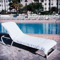 Lounge Chair Towel Covers Power Chairs And Scooters Resort Chaise Cover White T-lc3090w | Cozydays