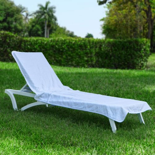 resort chaise cover white towel