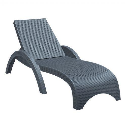 resin chaise lounge chairs recliner chair covers ebay fiji wickerlook outdoor dark gray isp860 dg