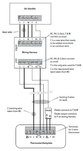diagram smartthermostat with voice control and ecobee4