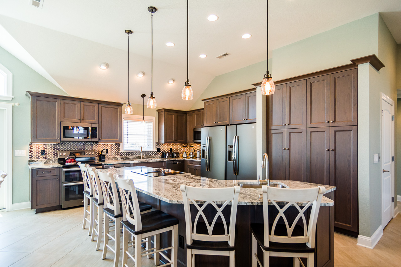 Custom Cabinets at New Outer Banks Home  The Cozy Kitchen