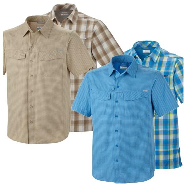 Columbia Silver Ridge Plaid Ss Shirt - Mens Tech Tees