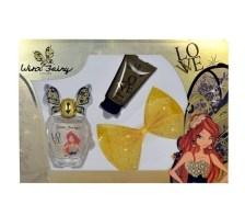 Winx Fairy Couture Bloom Eau De Toilette 100ml Combo: Edt 100ml + 75ml Body Lotion + Hair Clip