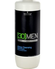 Schwarzkopf Professional 3D Men Deep Cleansing Shampoo 1000ml