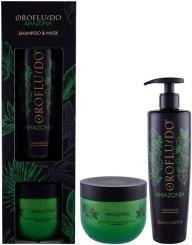 Orofluido Amazonia Shampoo 500ml Combo: Shampoo 500 Ml + Hair Mask 500 Ml (Damaged Hair)
