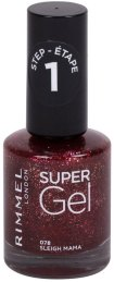 Rimmel London Super Gel STEP1 Nail Polish 078 Sleigh Mama 12ml