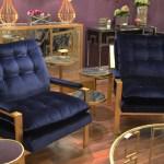 Worlds Away velvet chairs