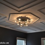A DIY on how to put up decorative ceiling molding.
