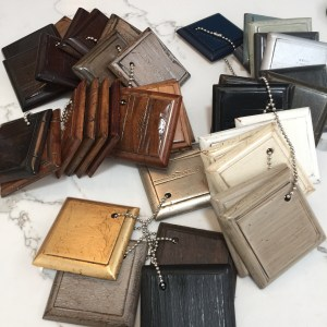A vast selection of finish samples