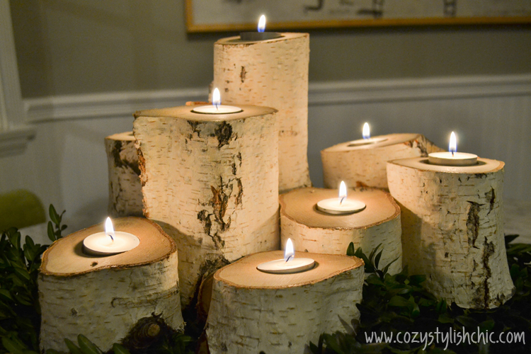 DIY - How to Make a Set of Tree Stump Candle Holders for the Holidays