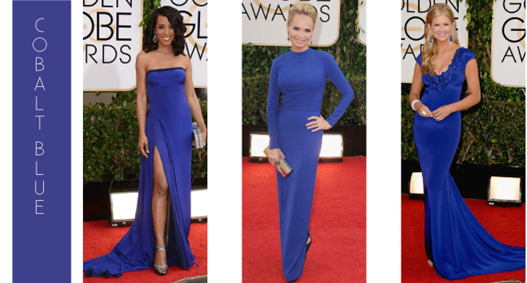 Color trending on the red carpet at the 2014 Golden Globe Awards