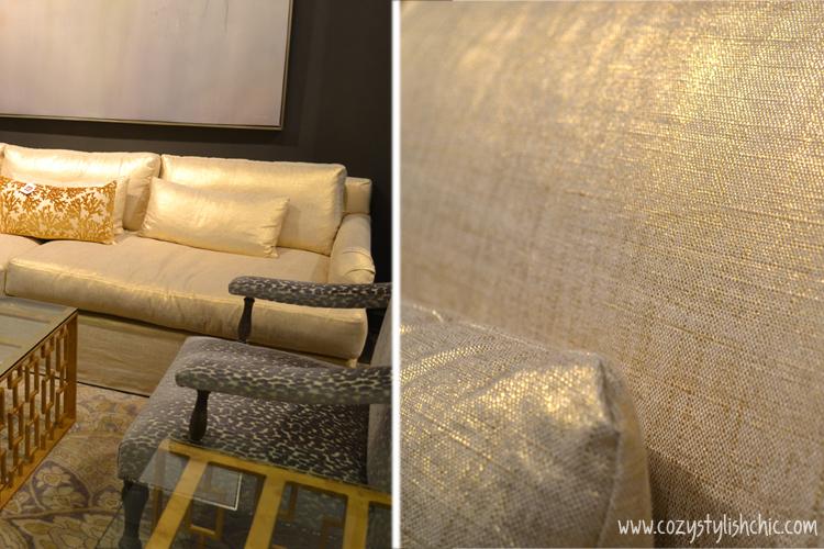 Metallic gold sofa from Moss Studio via Cozy•Stylish•Chic